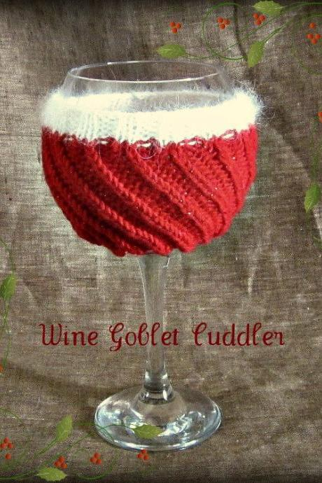 Wine Goblet Instant Download PDF Knitting Pattern