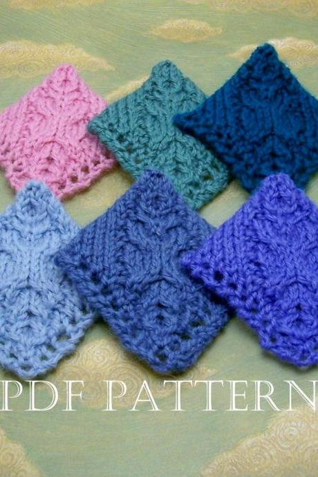 Cable Corner Bookmark Instant Download PDF Knitting Pattern