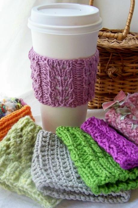 8 Cup Cuddlers Instant Download PDF Knitting Patterns - Series I