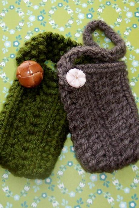 Mini Pouch Instant Download PDF Knitting Pattern
