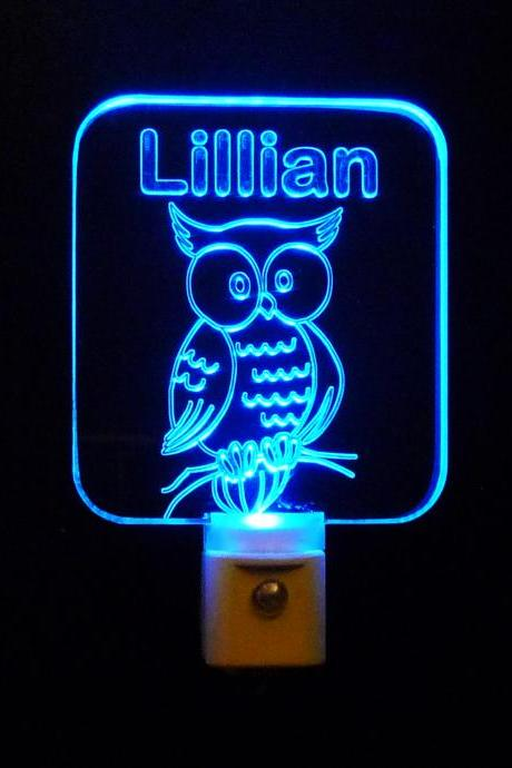 Personalized Custom Owl LED Night Light