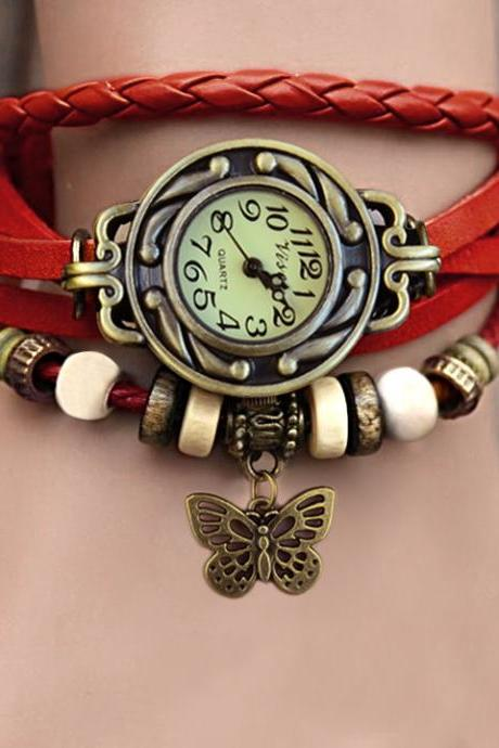 ± FREE SHIP ± Fashion Vintage Genuine leather The ancient Roman Fashion Punk Women's Dress Watches Women Dress Watches free shipping #7 19255