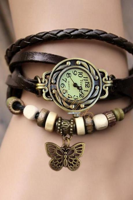 ± FREE SHIPPING ± Fashion Vintage Genuine leather The ancient Roman Fashion Punk Women's Dress Watches Women Dress Watches free shipping #7 19255