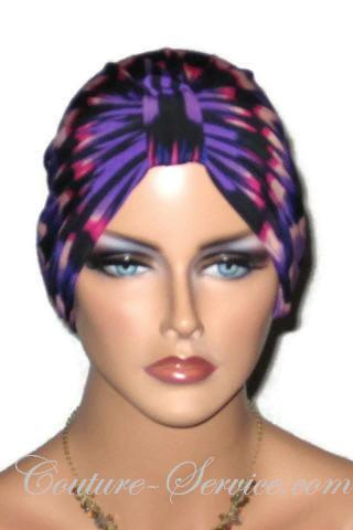 Purple Abstract Handmade Chemo Fashion Turban