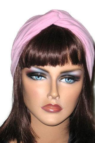 Pink Handmade Twist Fashion Turban