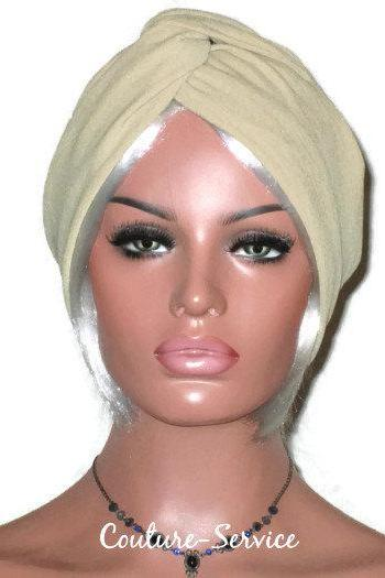 Black or Sand Handmade Cuffed Twist Fashion Turban