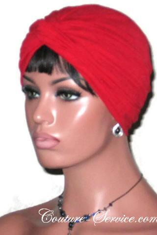 Natural, Green, Orange, or Red, Handmade Twist Fashion Turban