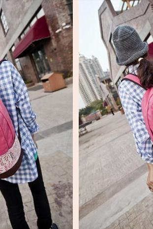 Charming Crochet Lace Backpack for School, Backpacks, Backpack