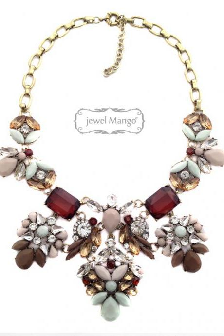 -FREE SHIP- statement necklace ship from usa free shipping