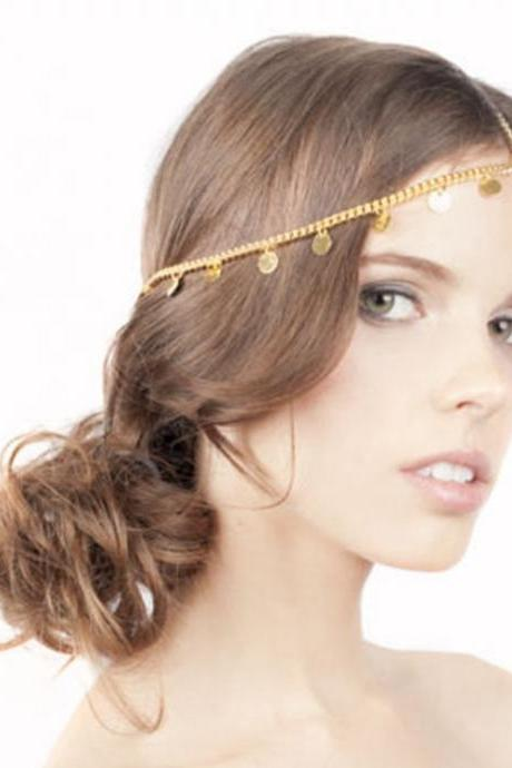 Boho Chic Golden Hair Accessory