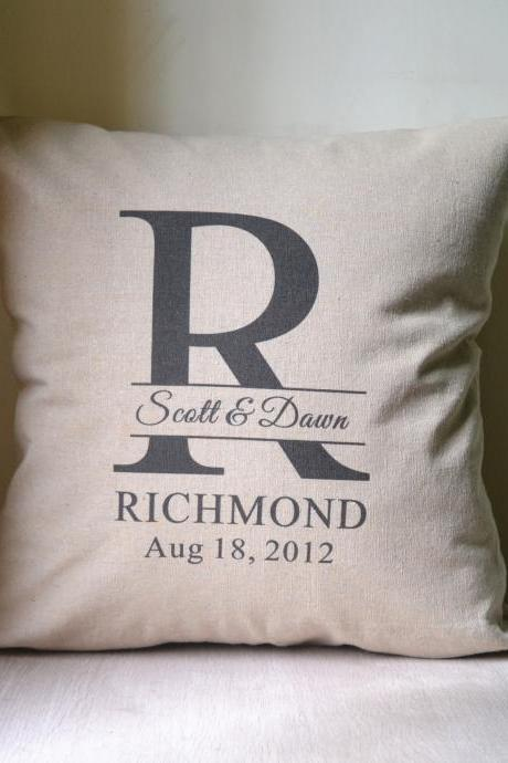 initial wedding pillow,decor pillow,Personalized pillow cover,pillow case,cushion cover,anniversary gift,bridal shower gift,wedding gift