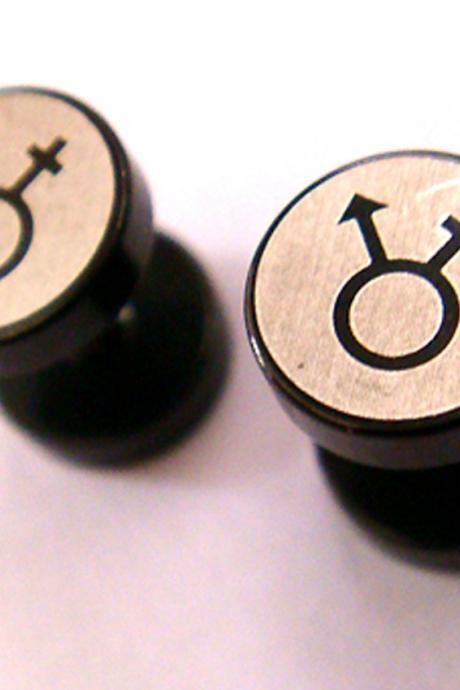 16g Sex Symbol One Pair 0g fake plugs ear plug rings earrings earlets lobe body piercing