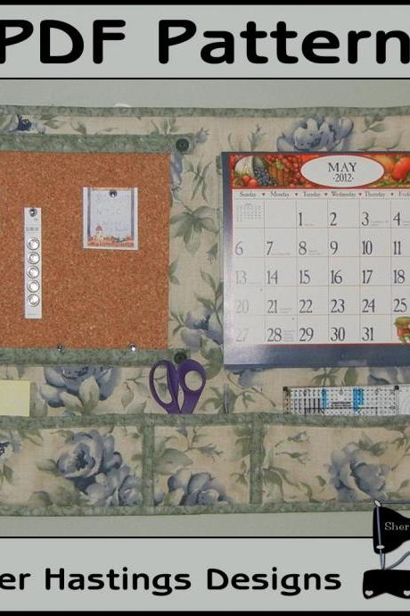 Wall Organizer Cork board & Calendar Wall Hanging
