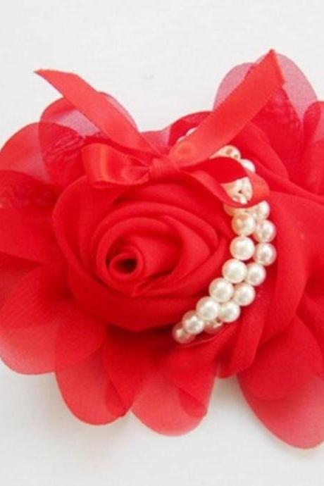 Red Headbands Rose Headband for Newborn,Infant,Toddler Girls and For All Ages-Red Hair Accessories,Red Head Piece