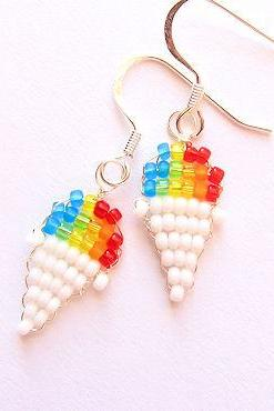 Snow Cone Beaded Earrings