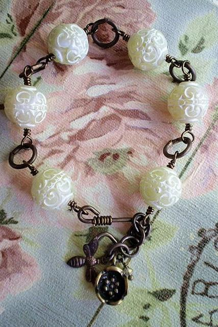Garden Party with Chinese Lanterns Bracelet