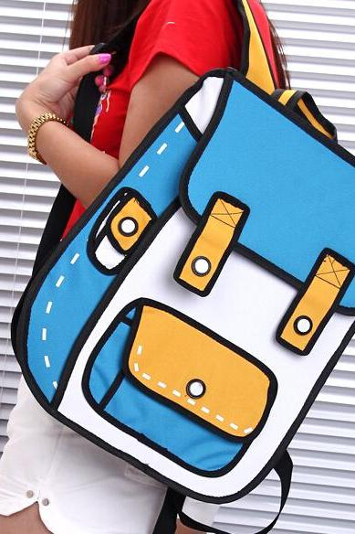 Secondary yuan 3 d cartoon bag in Three - dimensional bag GV823DD