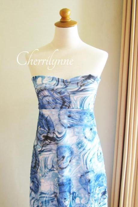 Strapless Tube Dress Made of Unique Jersey Fabric