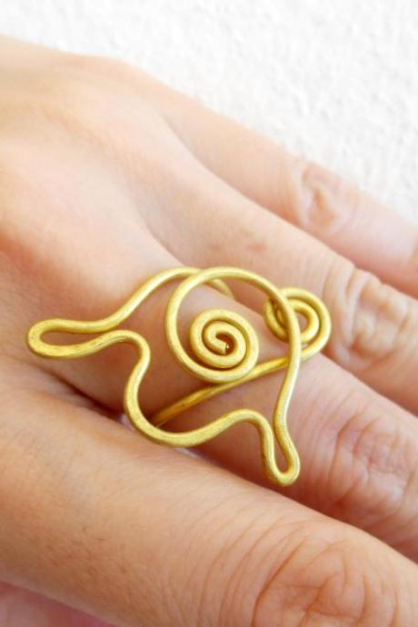 Brass Ring, Fashion Designs - Adjustable Ring, Jewelry Thailand Handmade. (JR1006)