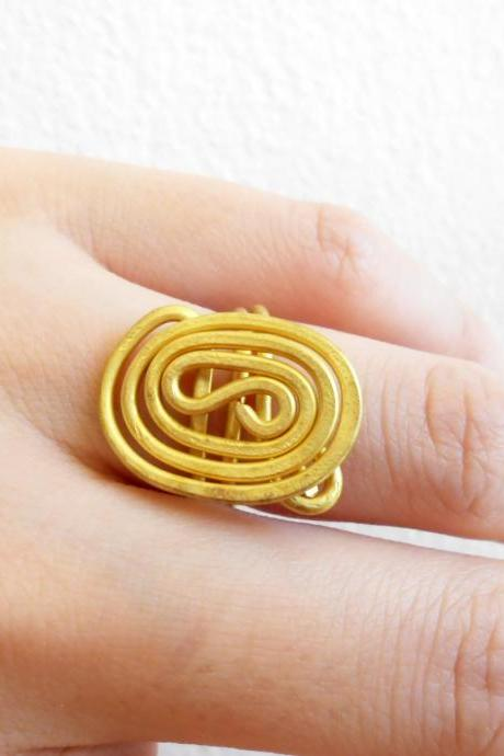Brass Ring, Fashion Designs - Adjustable Ring, Jewelry Thailand Handmade. (JR1007)