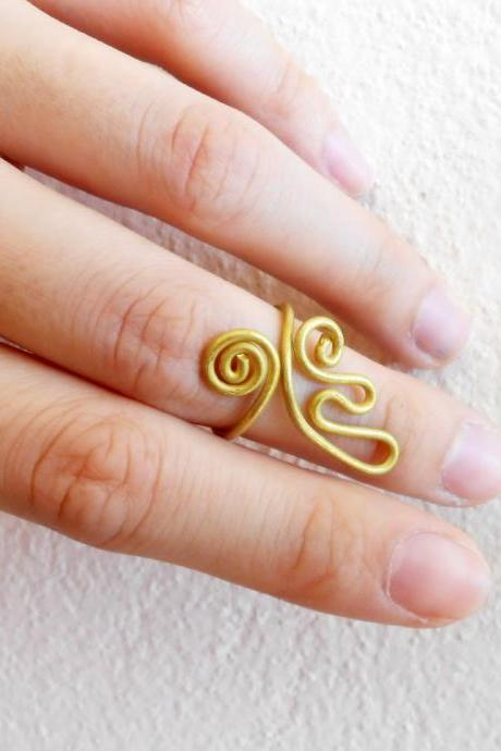 Brass Ring, Fashion Designs - Adjustable Ring, Jewelry Thailand Handmade. (JR1012)