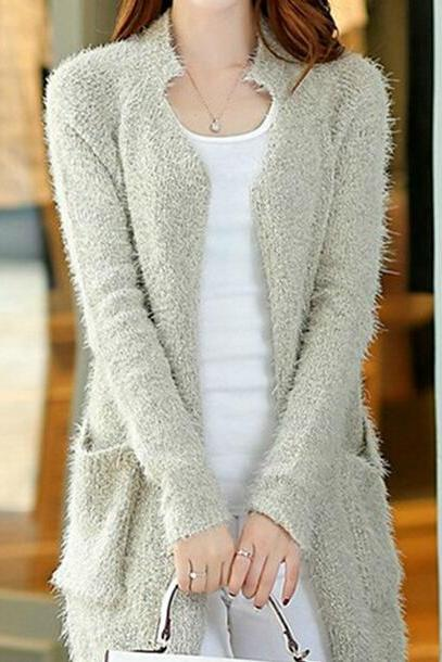 Loose sweater coat AA827G