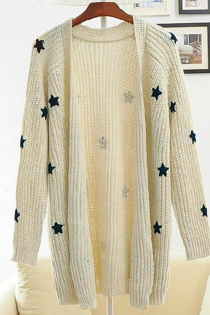 Star loose knit sweater AA827BA