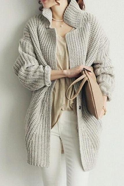 loose knit cardigan sweater AA827BD