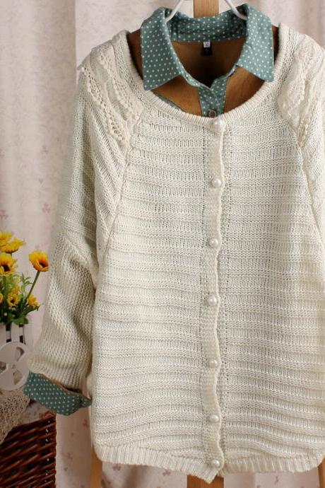 Lace cardigan sweater AA827BF
