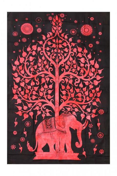 Handmade Item Elephant Tapestry Tapestry Throw Decorative Wallhanging Table Cover TROPICAL OCEAN