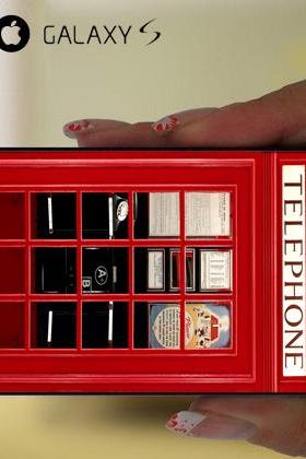 Red London Vintage Telephone For iPhone 4 4S 5 5S 5C Samsung Galaxy S4 S5