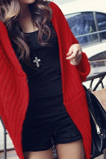 Stylish stitching loose sweater bat AX090301ax