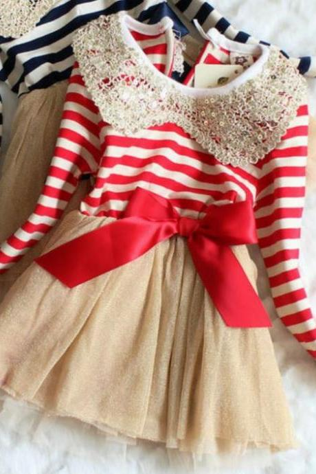 Christmas Dress for 9-12 Months Infant Girls-Candy Canes Dresses for Girls is READY FOR SHIPPING!