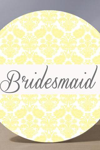 Pocket Mirror - Bridesmaid Pocket Mirror - Pale Yellow