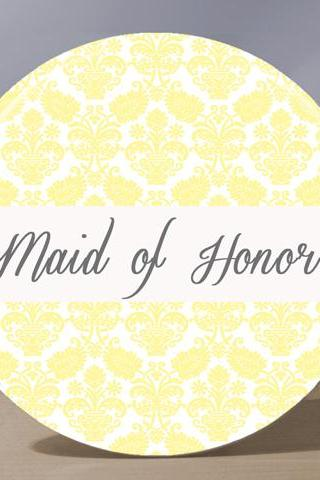 Pocket Mirror -Maid of Honor Pocket Mirror - Pale Yellow