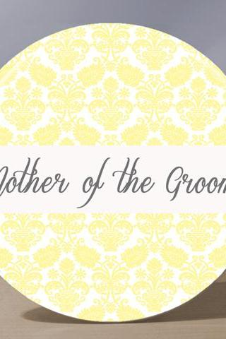 Pocket Mirror - Mother of the Groom Pocket Mirror - Pale Yellow
