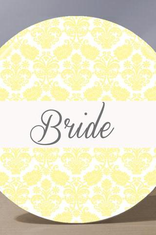 Pocket Mirror - Bride Pocket Mirror - Pale Yellow