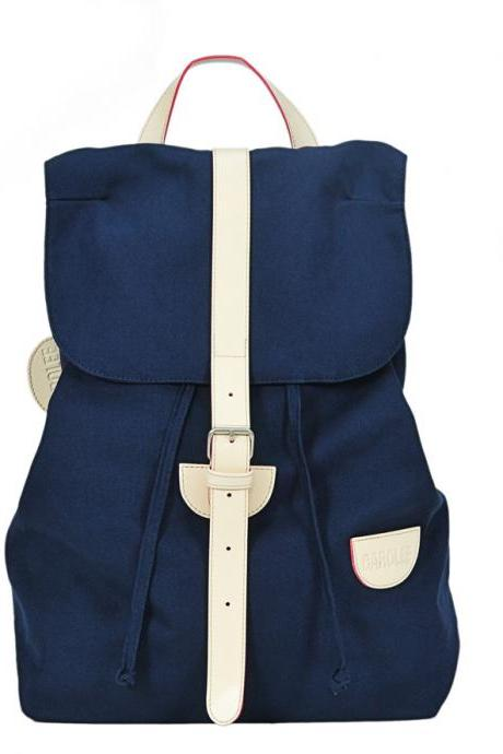 Cute Preppy style blue backpack