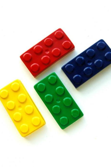 Lego Party Favors - Package of 12 Lego Shaped Crayons
