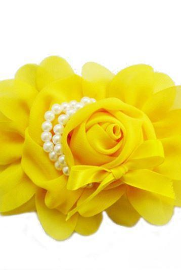 Headbands Rose Headband for Newborn,Infant,Toddler Girls and For All Ages Yellow Hair Accessories,Yellow Newborn Props