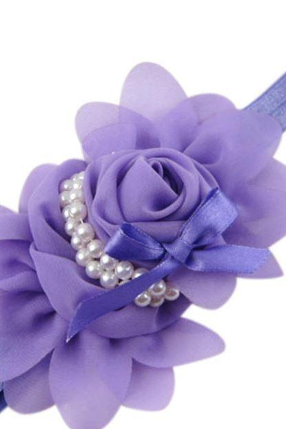 Purple Headbands Rose Headband for Newborn,Infant,Toddler Girls Purple Hair Accessories,Purple Floral Newborn Props