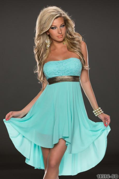 Women's Casual Blue Chiffon Sleeveless Dress