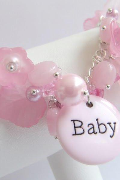 Pink bracelet, New Mommy, it's a babygirl, newborn