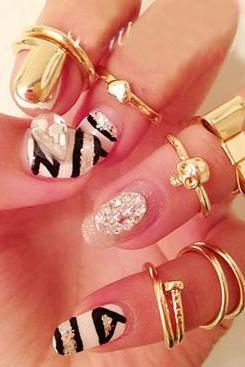 Fashion Gold Metal Rings