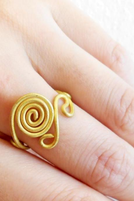 Brass Ring, Fashion Designs - Adjustable Ring, Jewelry Thailand Handmade. (JR1014)