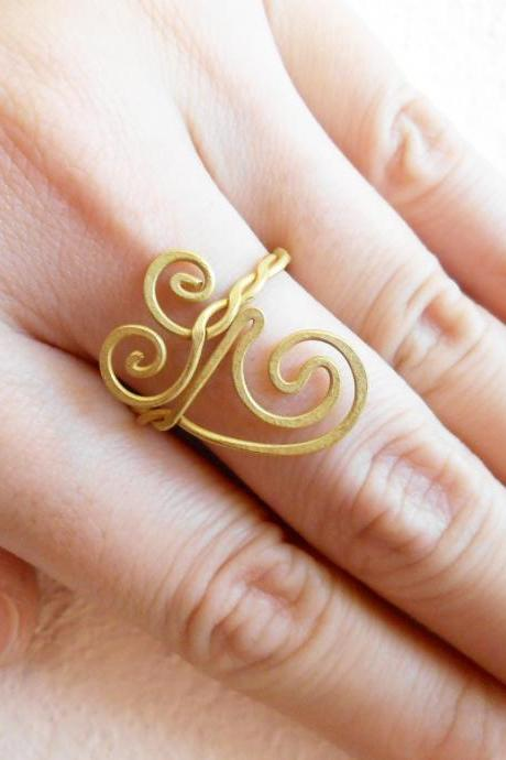 Brass Ring, Fashion Designs - Adjustable Ring, Jewelry Thailand Handmade. (JR1016)