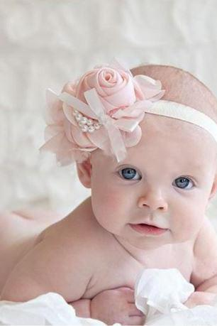 Pink Headbands Rose Headband for Newborn Photography Props