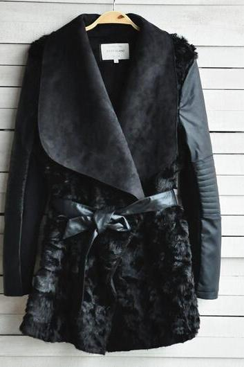 Winter fashion long-sleeved leather jacket AX091112ax