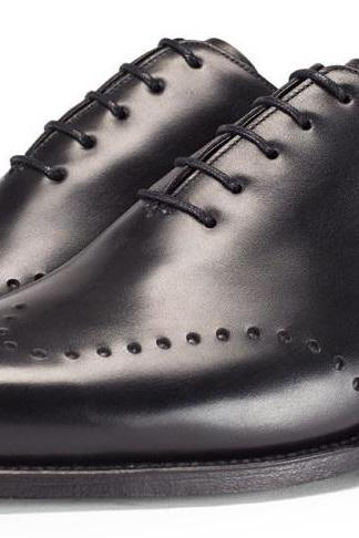 MEN DRESS SHOES, MEN HANDMADE BLACK COLOR LEATHER SHOES