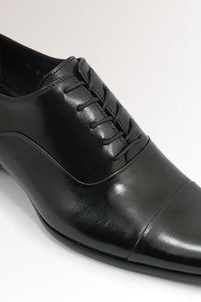 HANDMADE BLACK SHOES, MEN DRESS SHOES, MEN'S DRESS SHOES